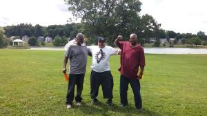 The fellas at Onondaga Park. [George, Greg, Thomas]